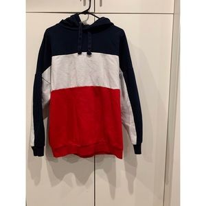 Jackets & Blazers - tricolor hoodie. size large.